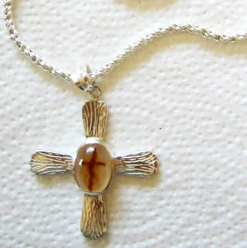 Cross Agate in Handmade Silver Setting